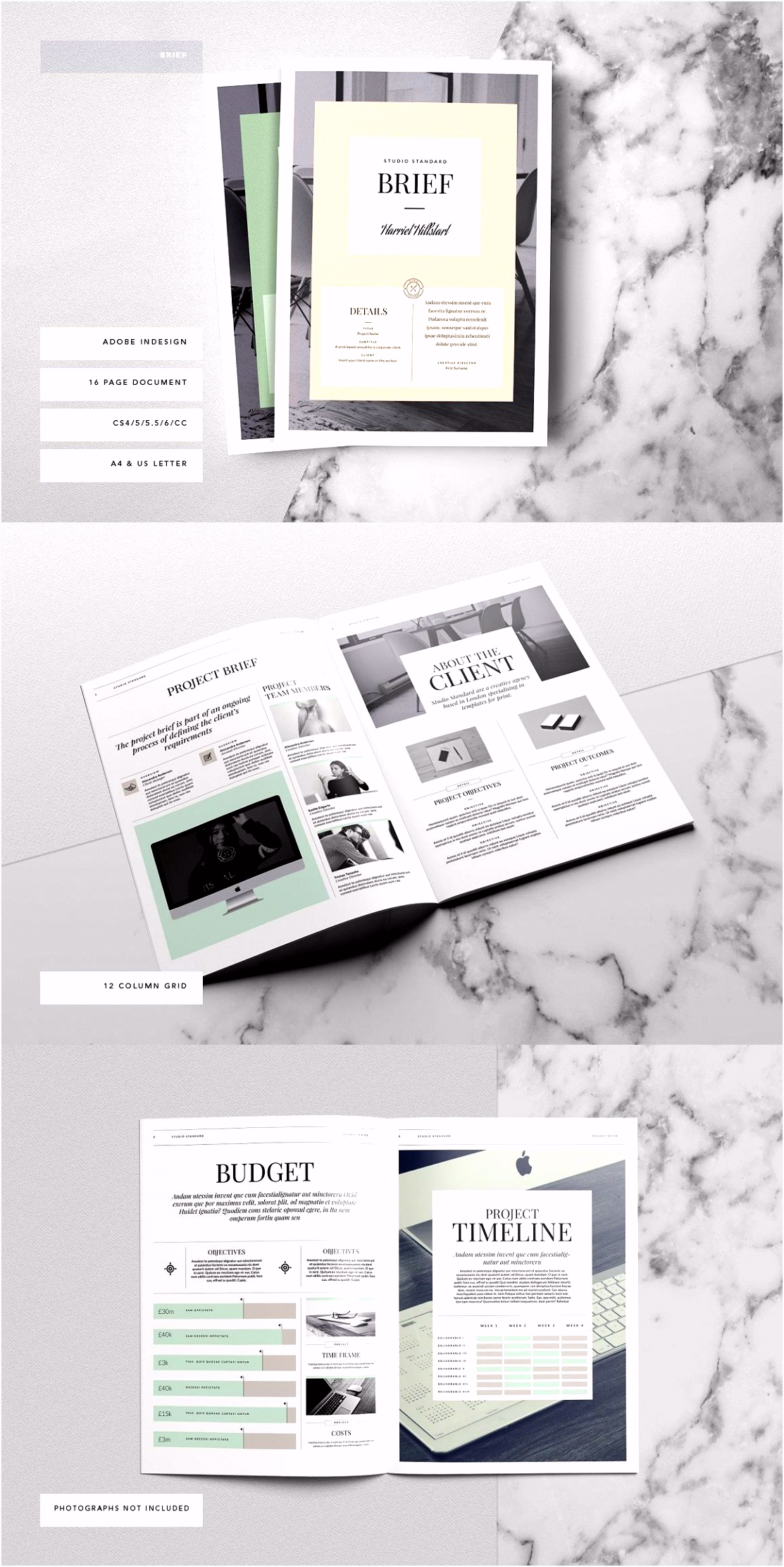 Kingsley Brief Template Graphic Design Pinterest