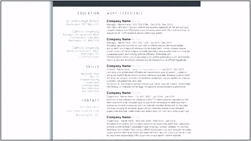 Free Cv Template Best Free Cv Template Word Best Resume Cover Letter