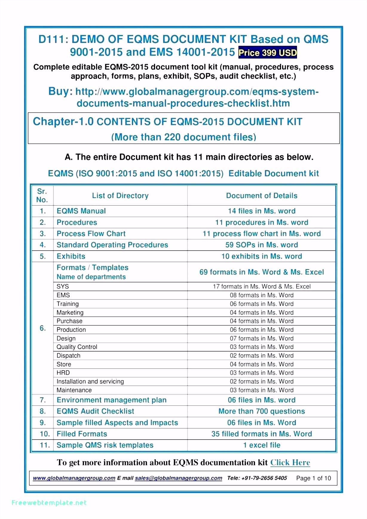 Iso 14001 Handbuch Vorlage iso 9001 2015 Checklist Excel Template Glendale Munity Document G8pt23gau6 Emuw62dsfh