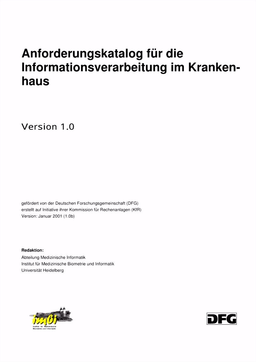 PDF Anforderungskatalog für Informationsverarbeitung im Krankenhaus