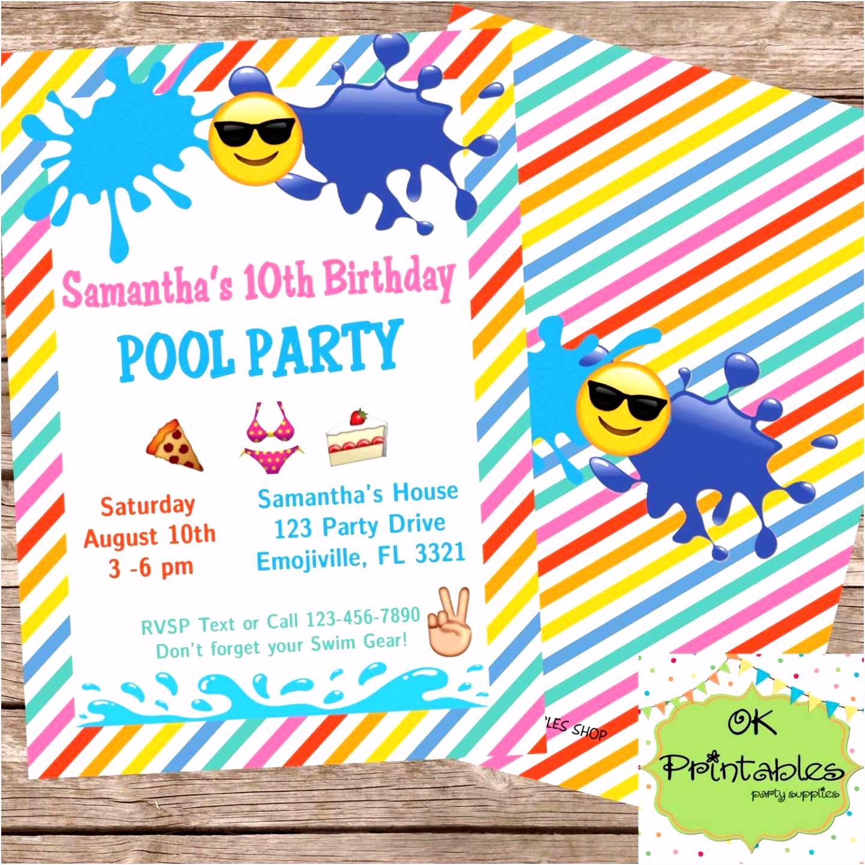 Einladung Poolparty Vorlagen Kostenlos