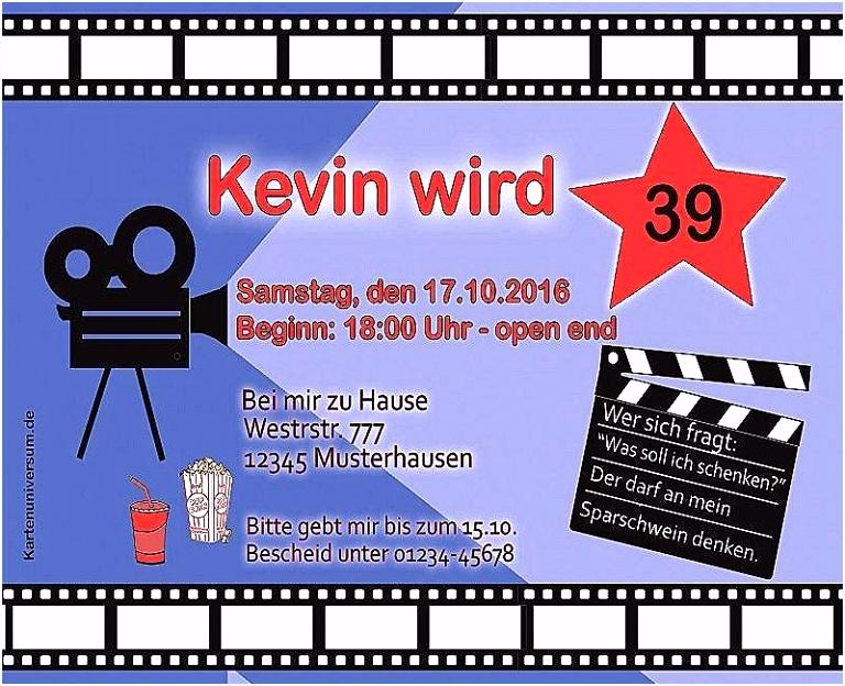 Einladung Zum Kindergeburtstag Kino Motiv – einladungkarten