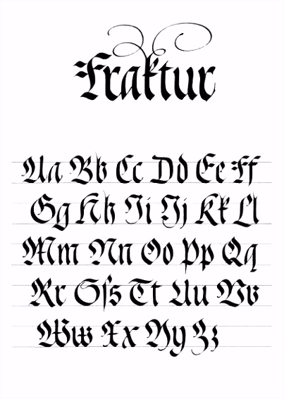 Neues Kalligraphie Alphabet Vorlagen Kostenlos