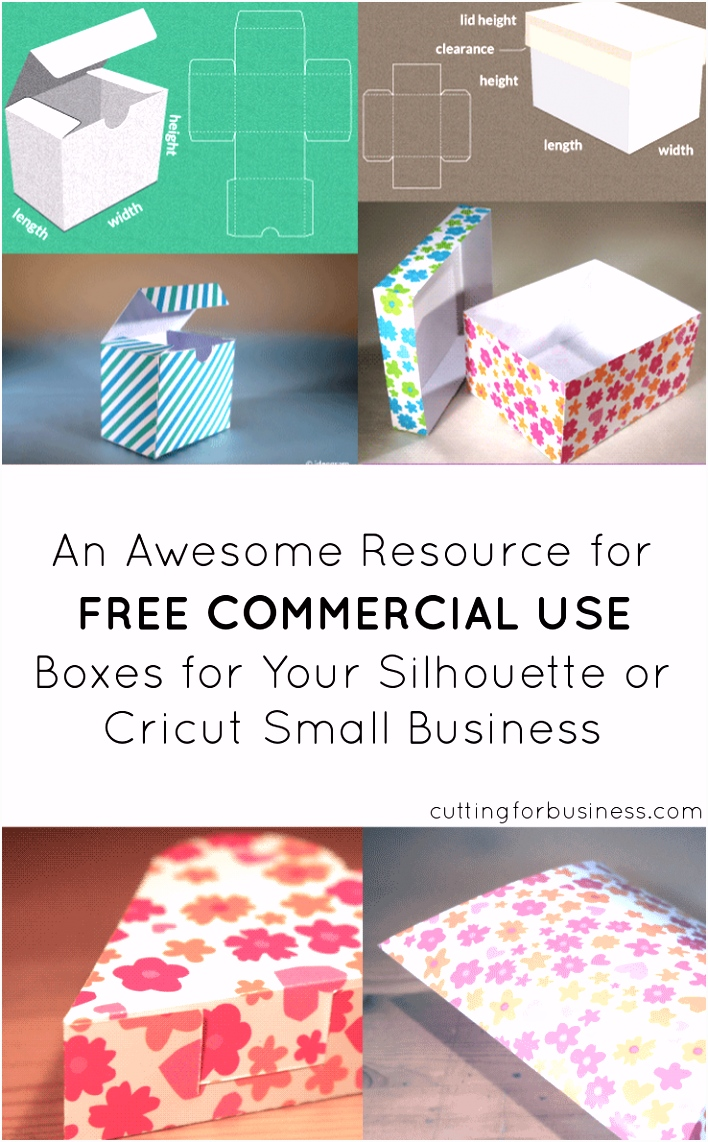 Resources to Create Your Own Paper Boxes with Cricut or Silhouette