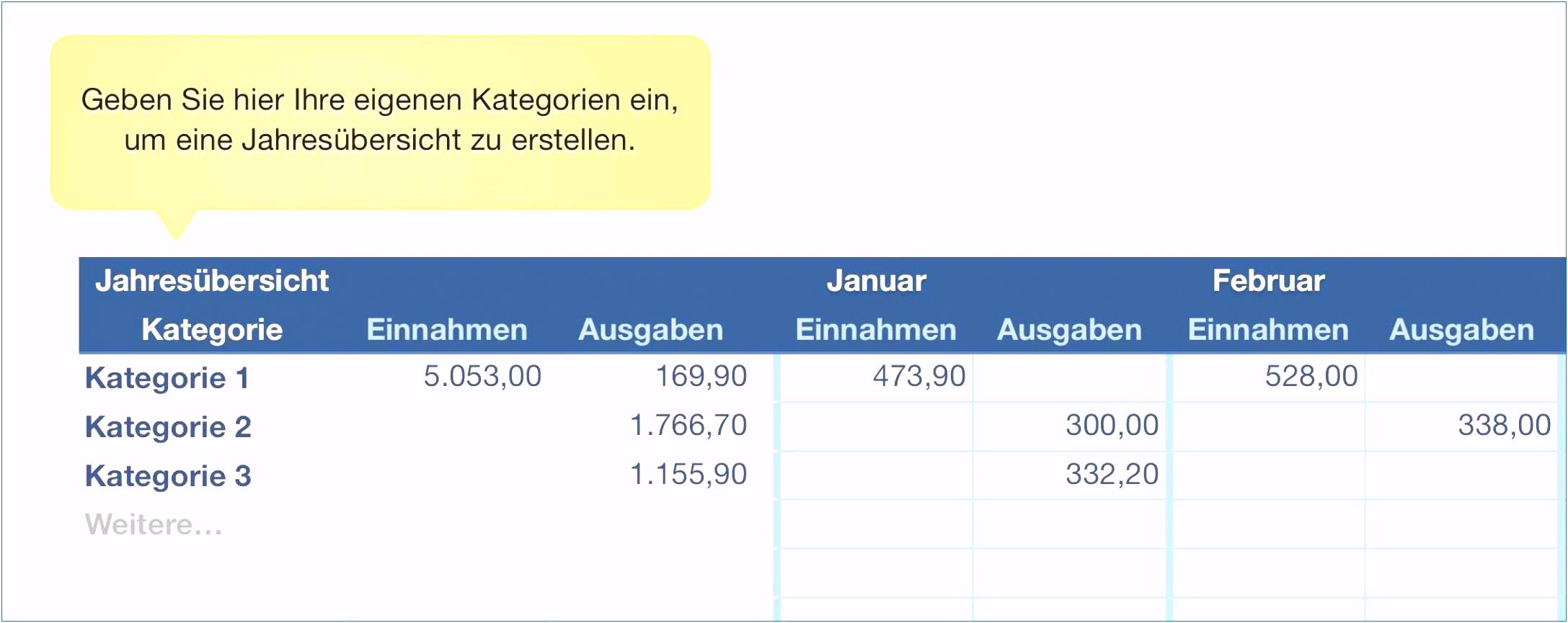 Kassenbuch Excel