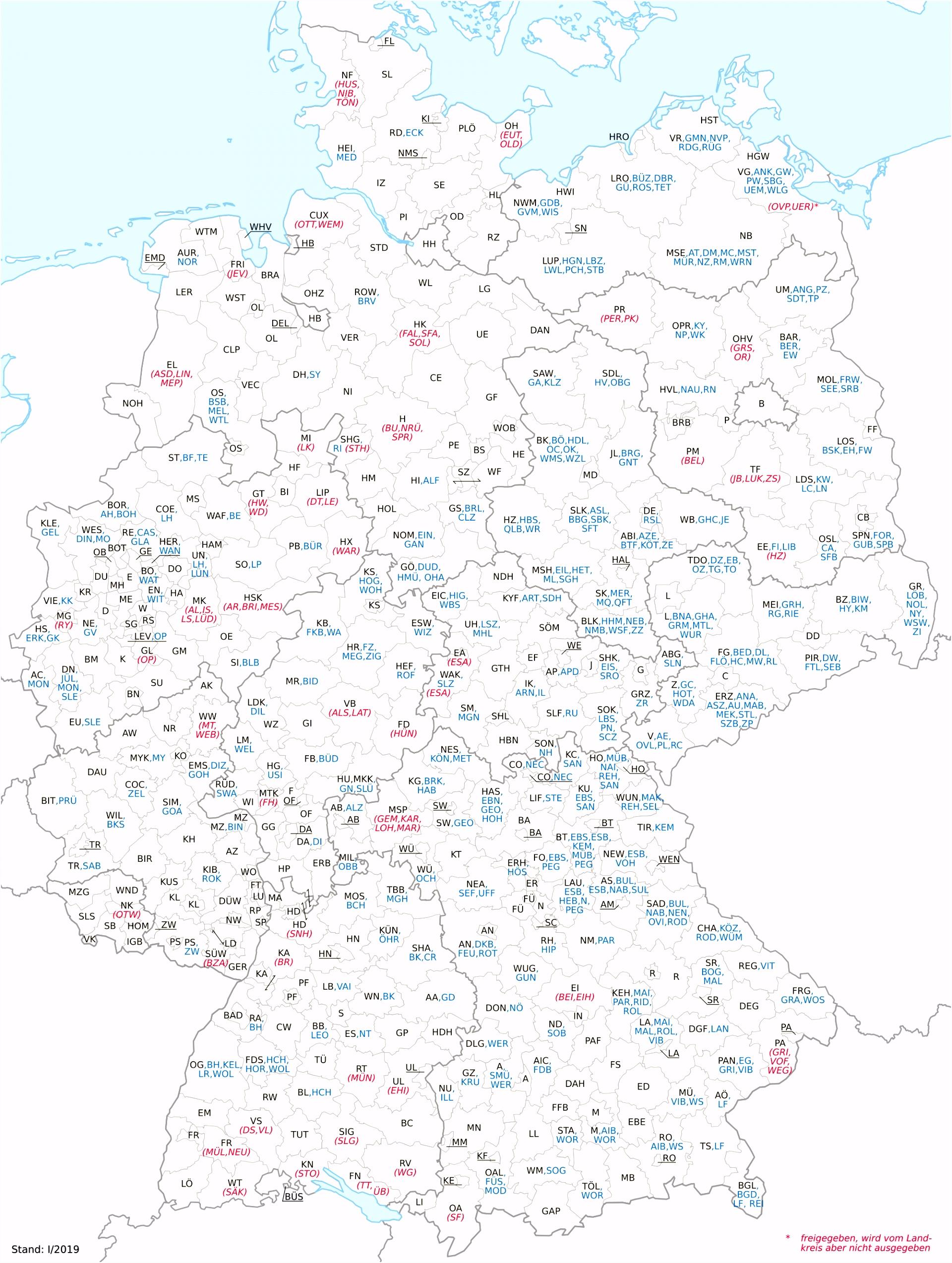 Kfz Kennzeichen Deutschland –