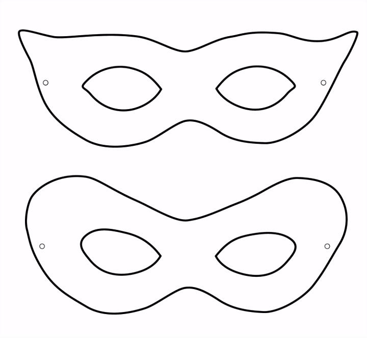 Einzigartiges Masken Vorlagen
