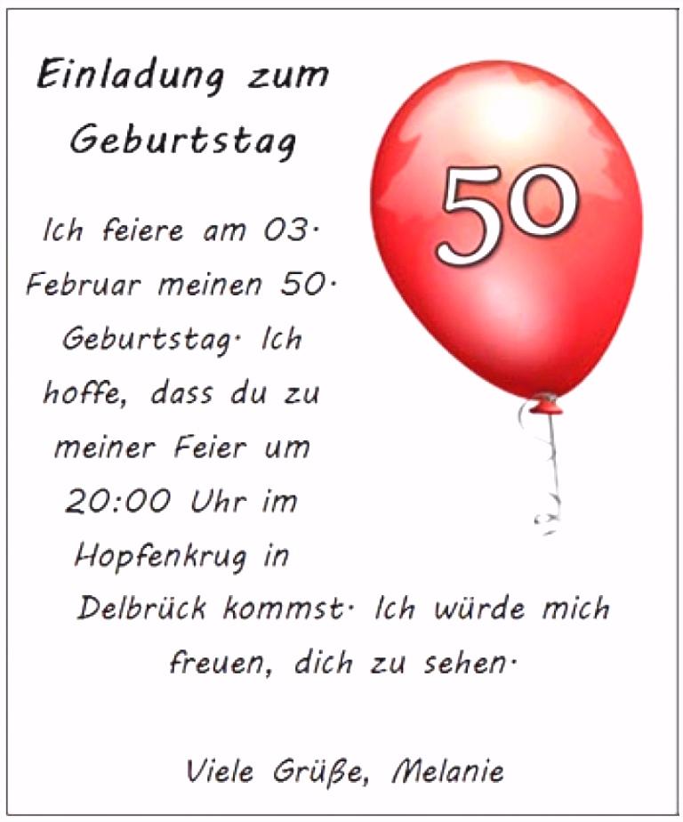 Geburtstag Einladung 50 Frisch Einladungskarten Vorlagen Geburtstag