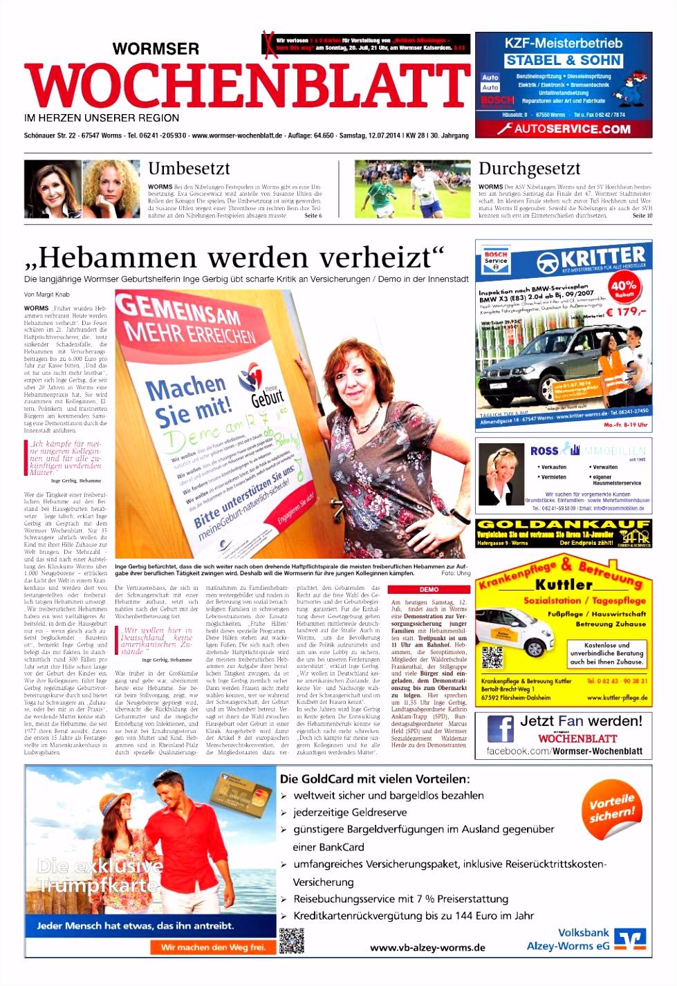 Wormser Wochenblatt 2014 28 Sa by Wormser Wochenblatt issuu