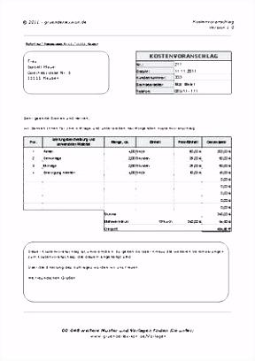 Kostenvoranschlag Kfz Vorlage Screenshot Der Ausgefllte Kostenvoranschlag Als Muster Badezimmer C7um73uqa1 Tsud0ssdw4