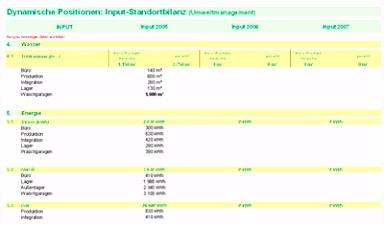 """Excel Muster Vorlage """"Umweltmanagement Standortbilanz"""" QMT"""