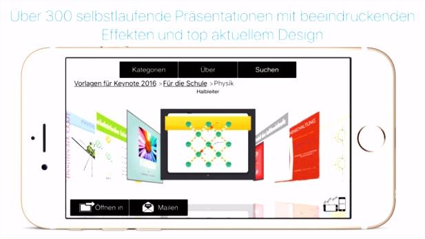 Vorlagen für Numbers & Keynote Ed 2017 im App Store