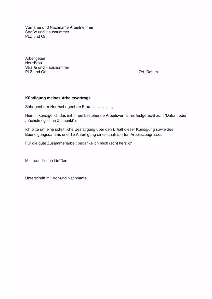 Editierbar Kündigung 450 Euro Job Vorlage