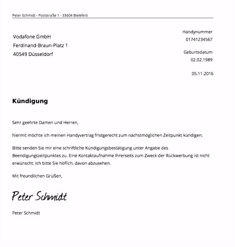 Telekom Kündigung Vorlage Pdf Beratung Frisches Kündigung