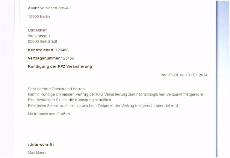 Kündigungsschreiben Versicherung Vorlage Gratis Vodafone Widerruf