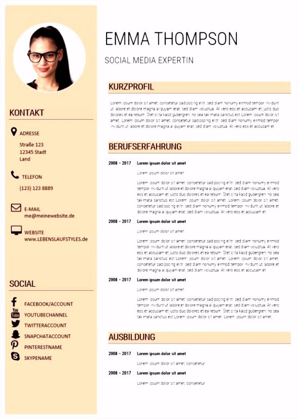Cv Deutsch Muster 12 Lebenslauf Deutsch Muster resume template online