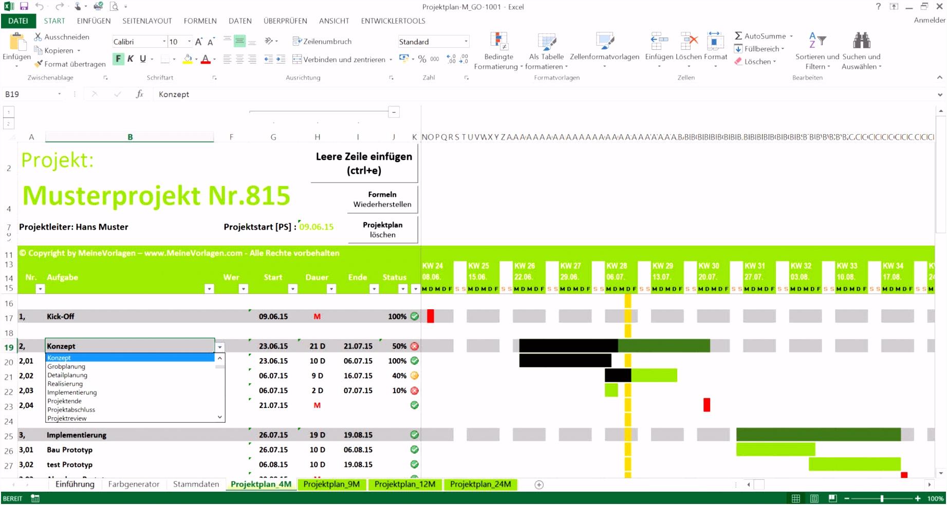 Projektplan Word Vorlage Schön Projektplan Excel lebenslauf vorlage