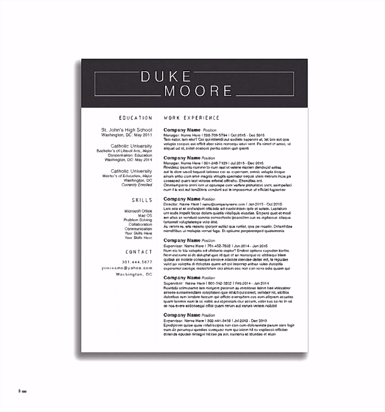 30 Luxury Libre fice Resume Template Graphics