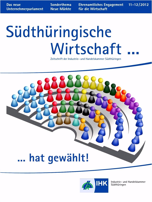 Südthüringische Wirtschaft Ausgabe 11 12 2012 by IHK Südthüringen