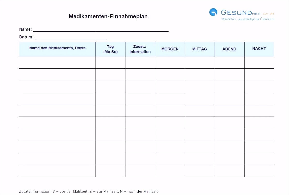 Medikamentenplan Vorlagen Word Einzigartiges Medikamentenplan Vorlage S0ye37sft9 V5ob04juwu