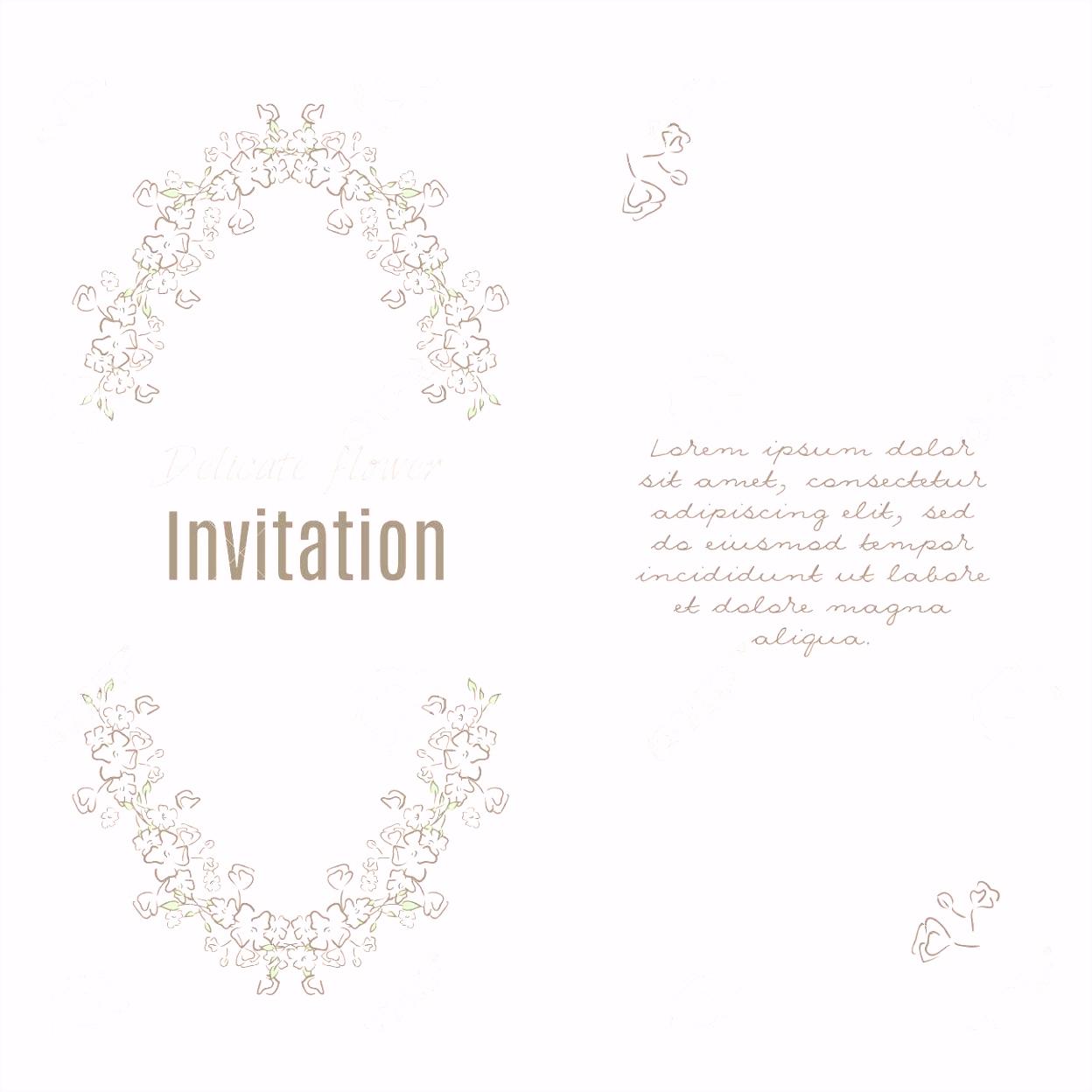 Grußkarte Vorlage Blumenhintergrund Design Briefpapier Im Vektor