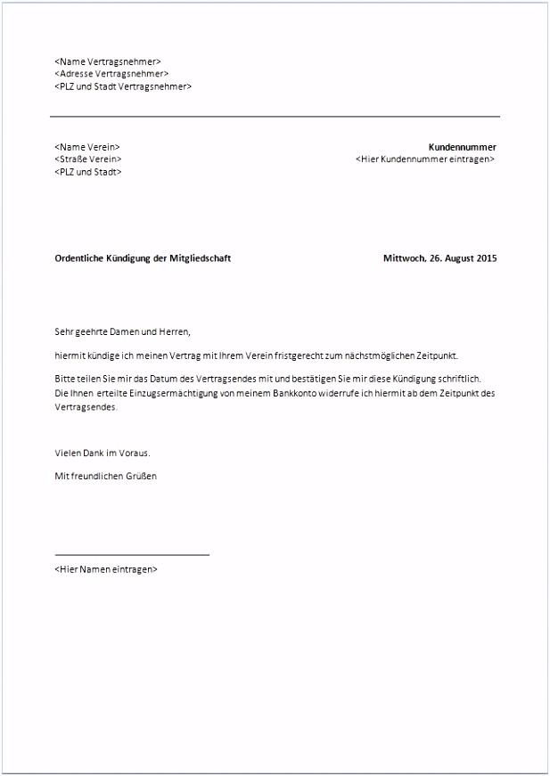 17 kündigung mietvertrag muster