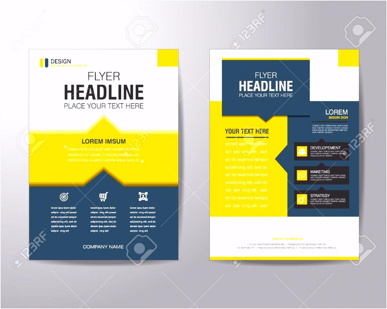 Business Broschüre Flyer Design Layout Vorlage Im A4 Format Mit