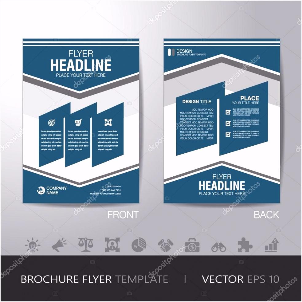 einfaches Geschäft Broschüre Flyer Design Layout Vorlage im A4
