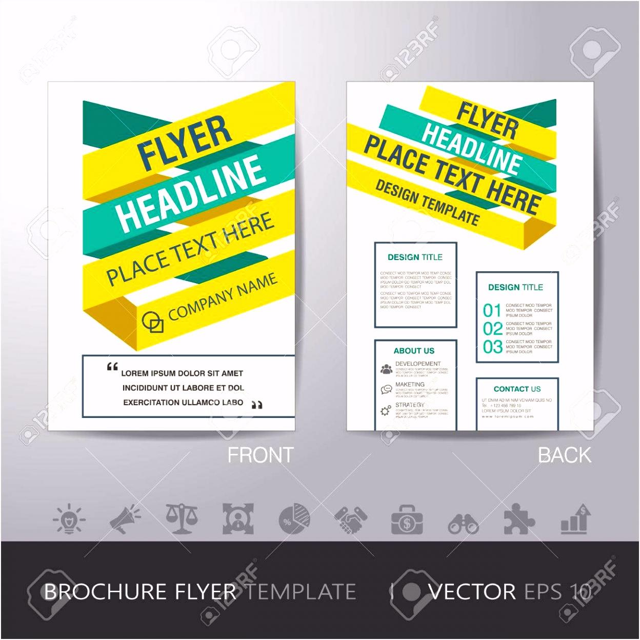 Gelb Grün Business Broschüre Vorlage Flyer Design Layout Im A4