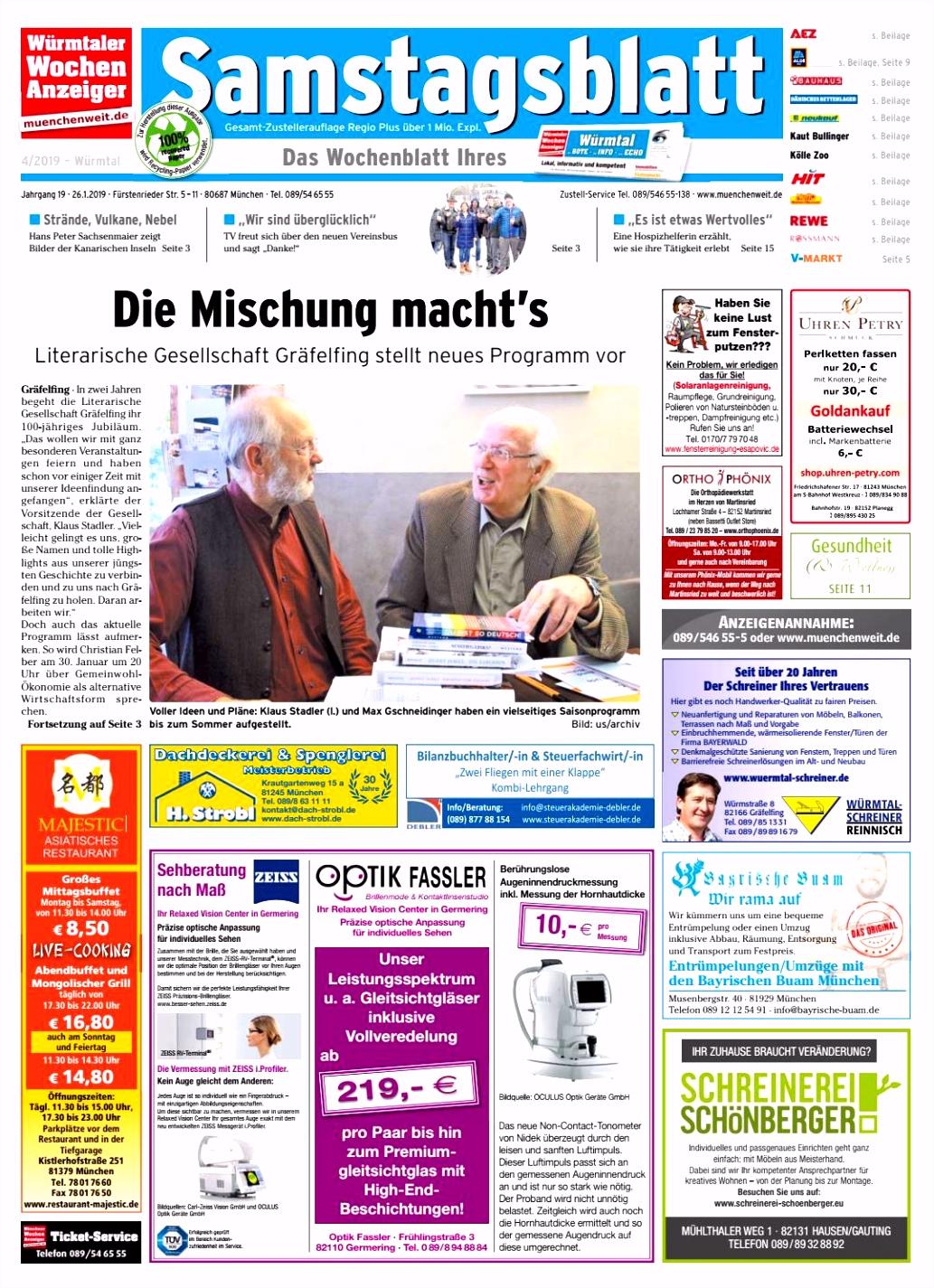 KW 04 2019 by Wochenanzeiger Me n GmbH issuu