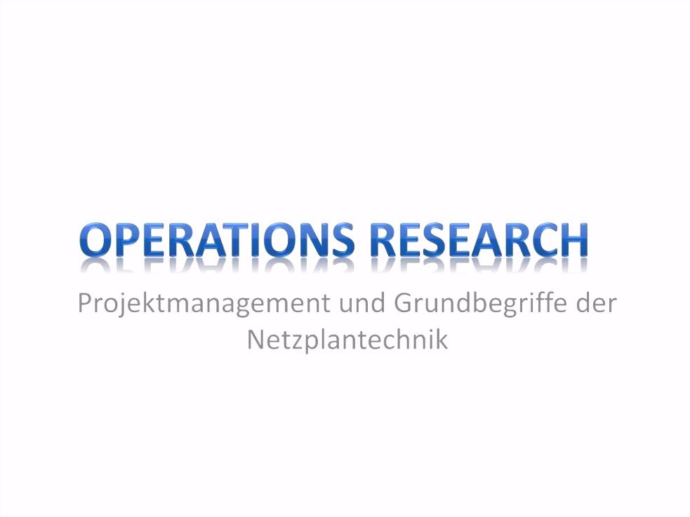 PPT Projektmanagement und Grundbegriffe der Netzplantechnik