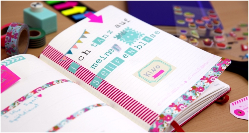 Notizbücher kreativ verschönern mit Filofaxing Papierus GmbH