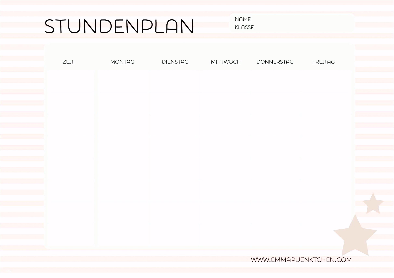 Stundenplan Vorlage Zum Ausdrucken Erstaunlich Niedlich Stu Nplan