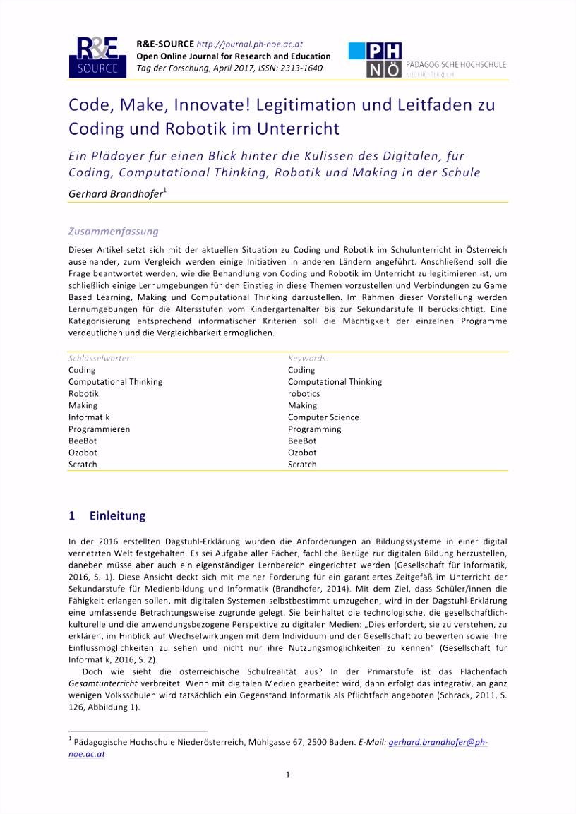 PDF Code Make Innovate Legitimation und Leitfaden zu Coding und