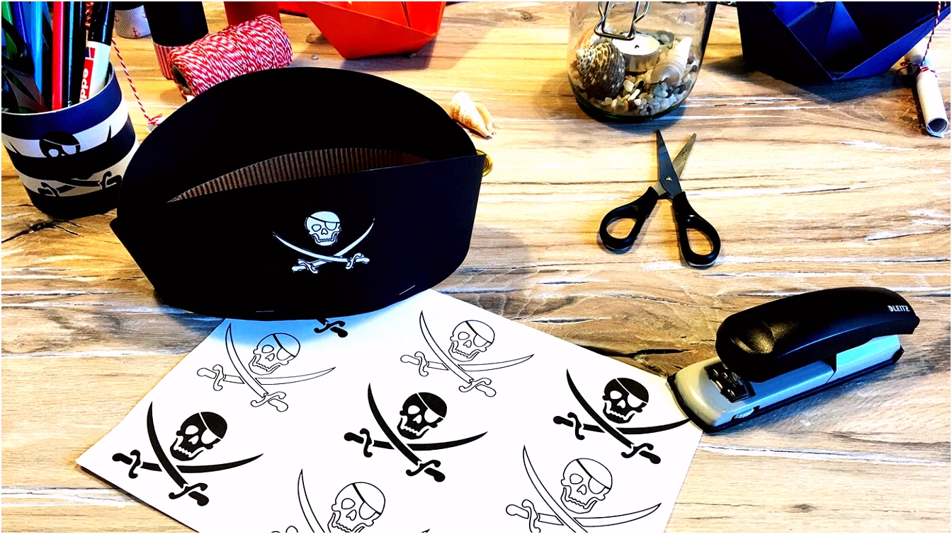 Piratenhut Bastelvorlage – FRECHER FRATZ