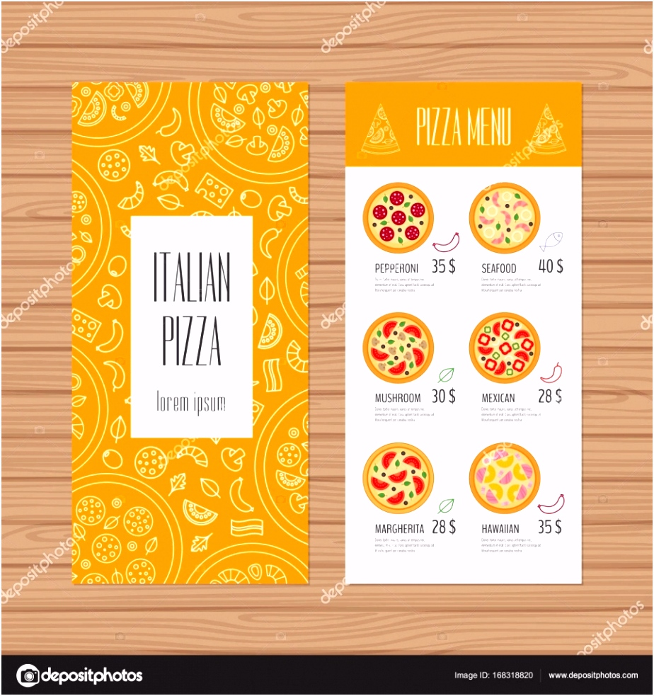 50 Luxury Flyers Pizza Menu
