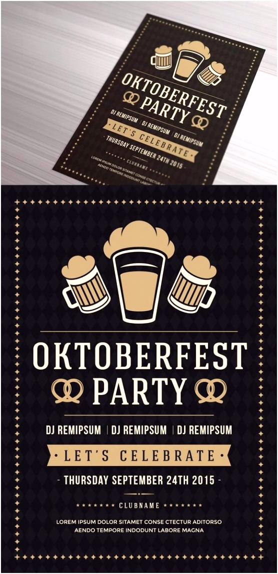 Frisches Oktoberfest Plakat Vorlage