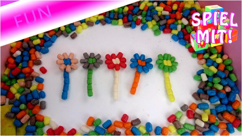 PlayMais Basic basteln 5 Bunte Blumen Wunsch von Abonnenten