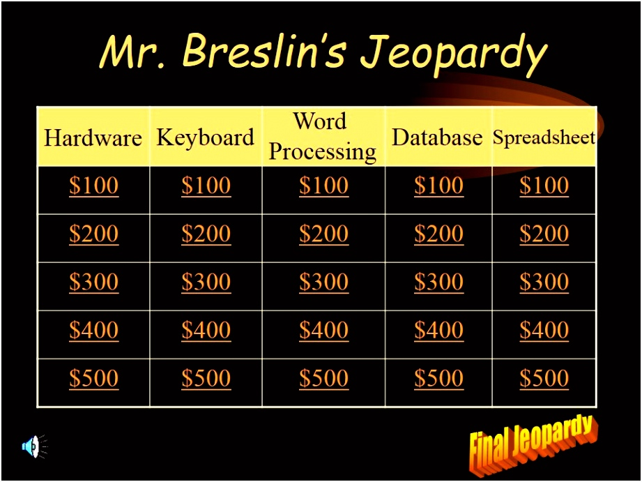 ✓ Powerpoint Jeopardy Template with Music tun