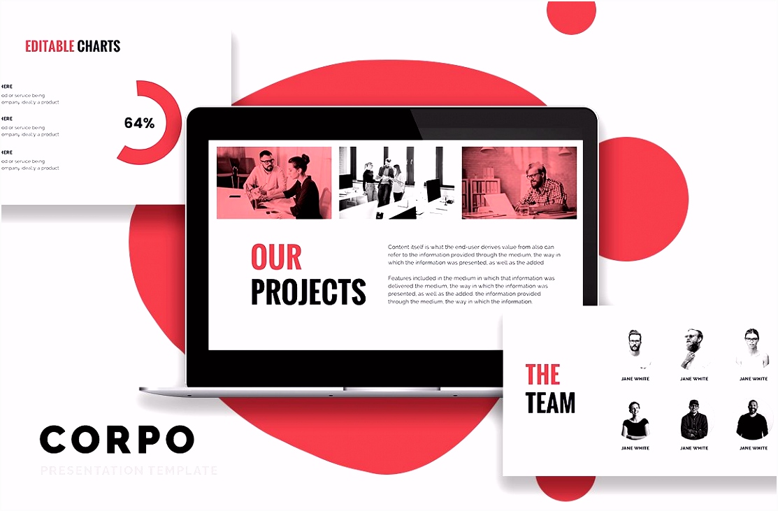 CORPO Business Powerpoint Template Presentation Templates