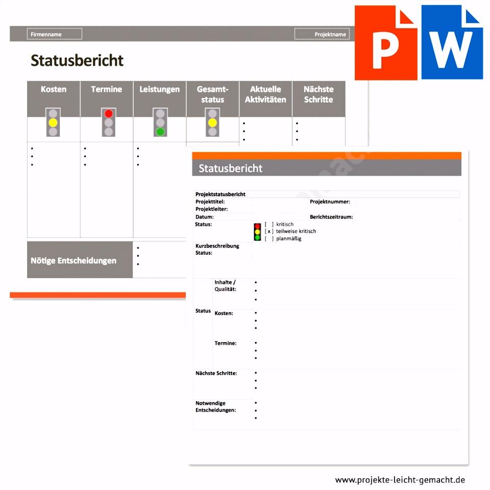 Vorlage Statusbericht