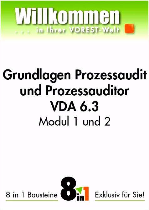 Prozessaudit nach VDA 6 3 Schulung