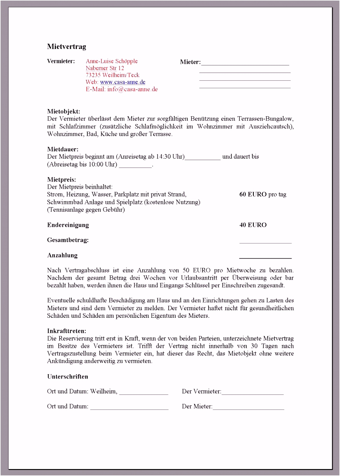 9 Hausverwaltung Vorlagen Ehoevi