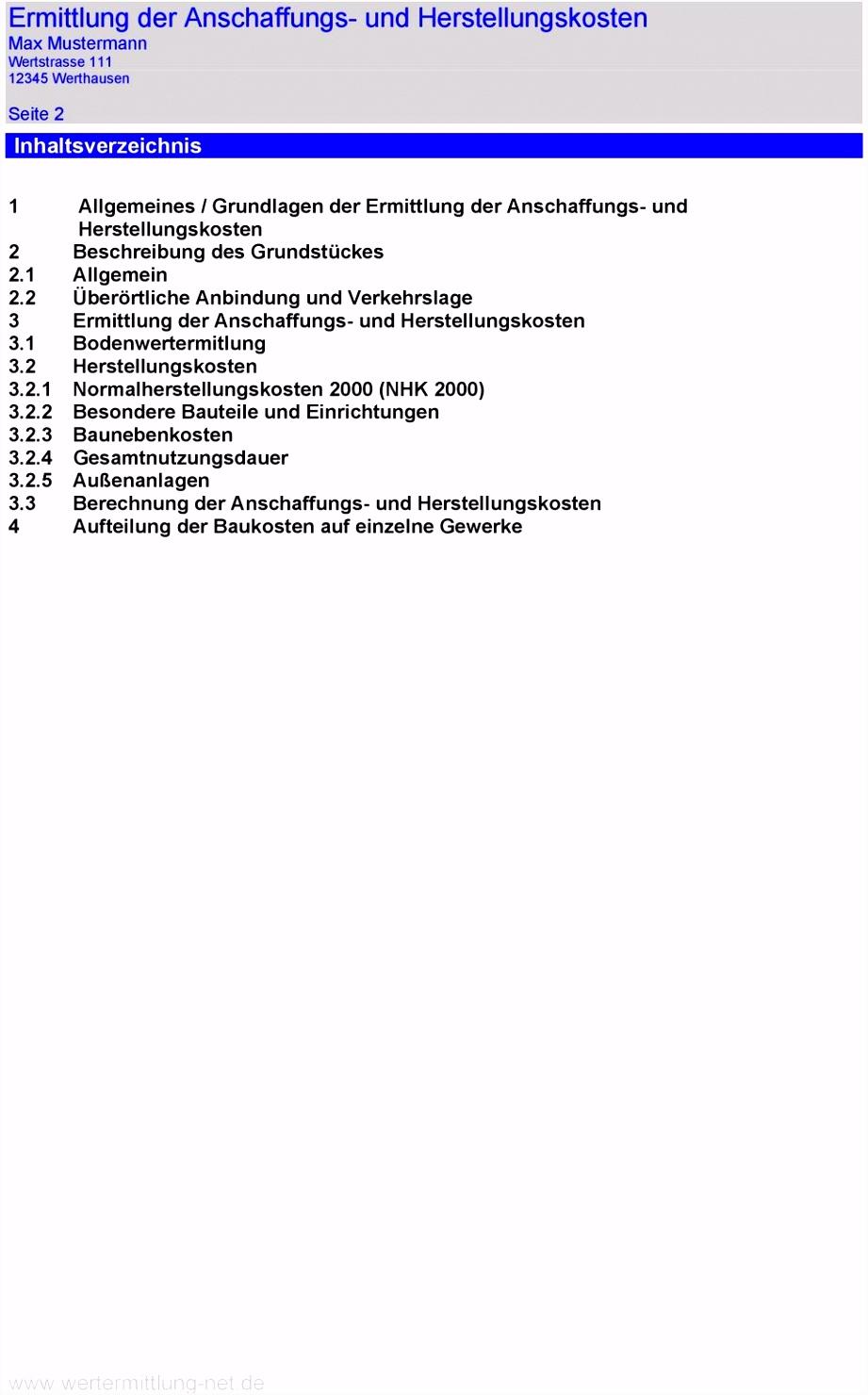 ERMITTLUNG DER ANSCHAFFUNGS UND HERSTELLUNGSKOSTEN PDF