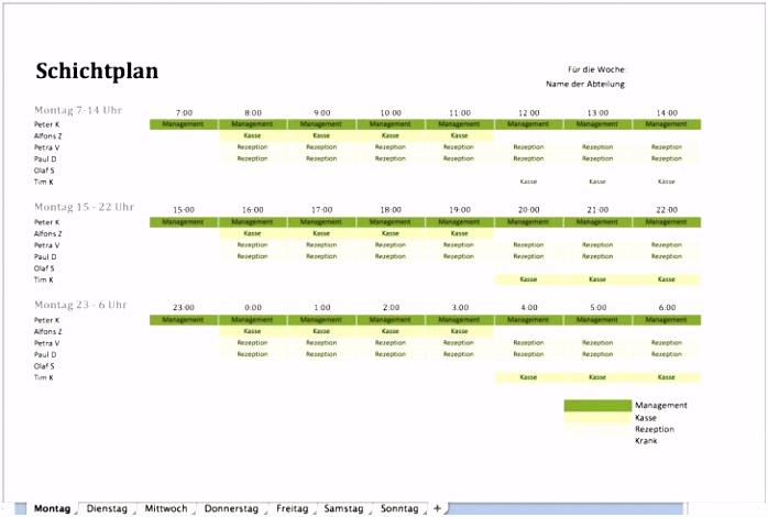 Schichtplan Excel Vorlage Kostenlos Fabelhafte Inspiration