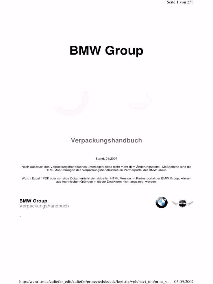 BMW Verpackungshandbuch 2007 pdf