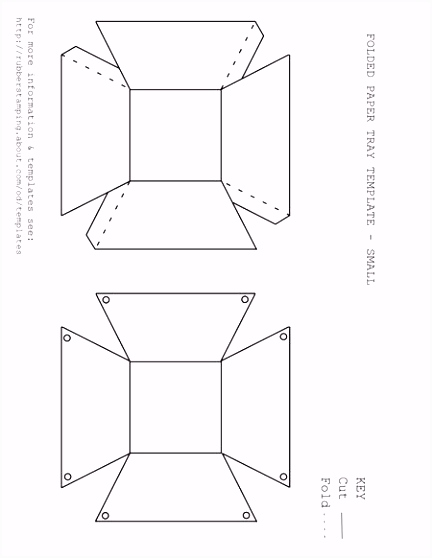 Free Printable Paper Tray Templates