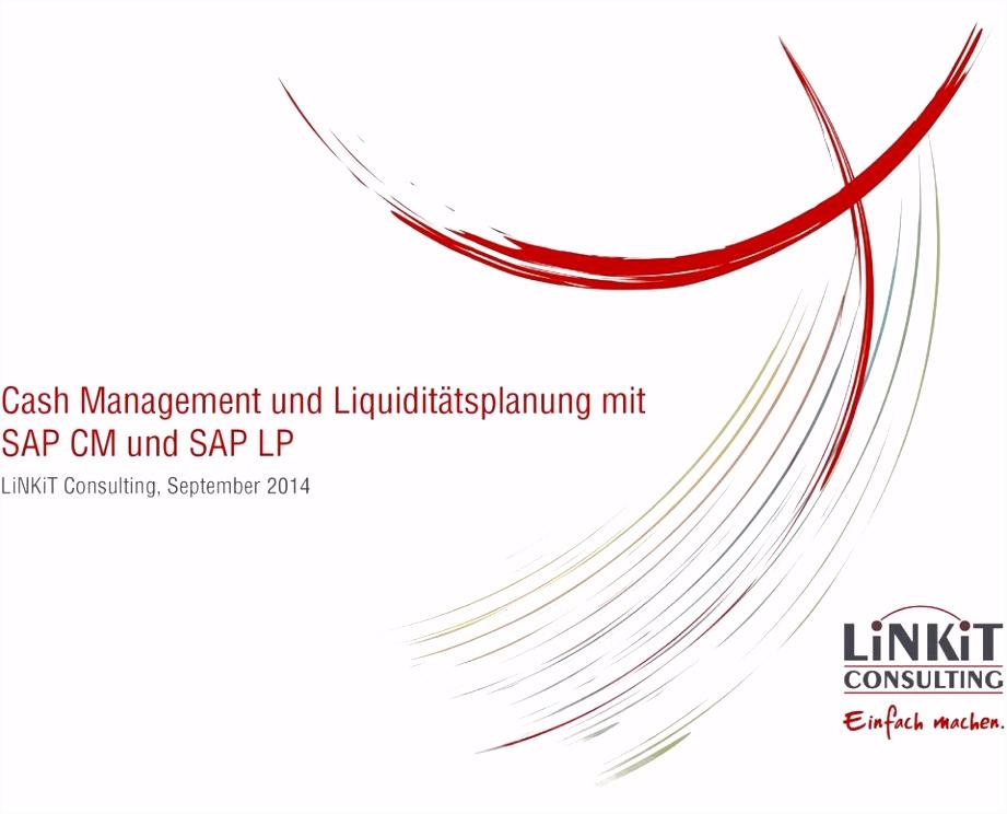 Cash Management und Liquiditätsplanung mit SAP CM und SAP LP LiNKiT