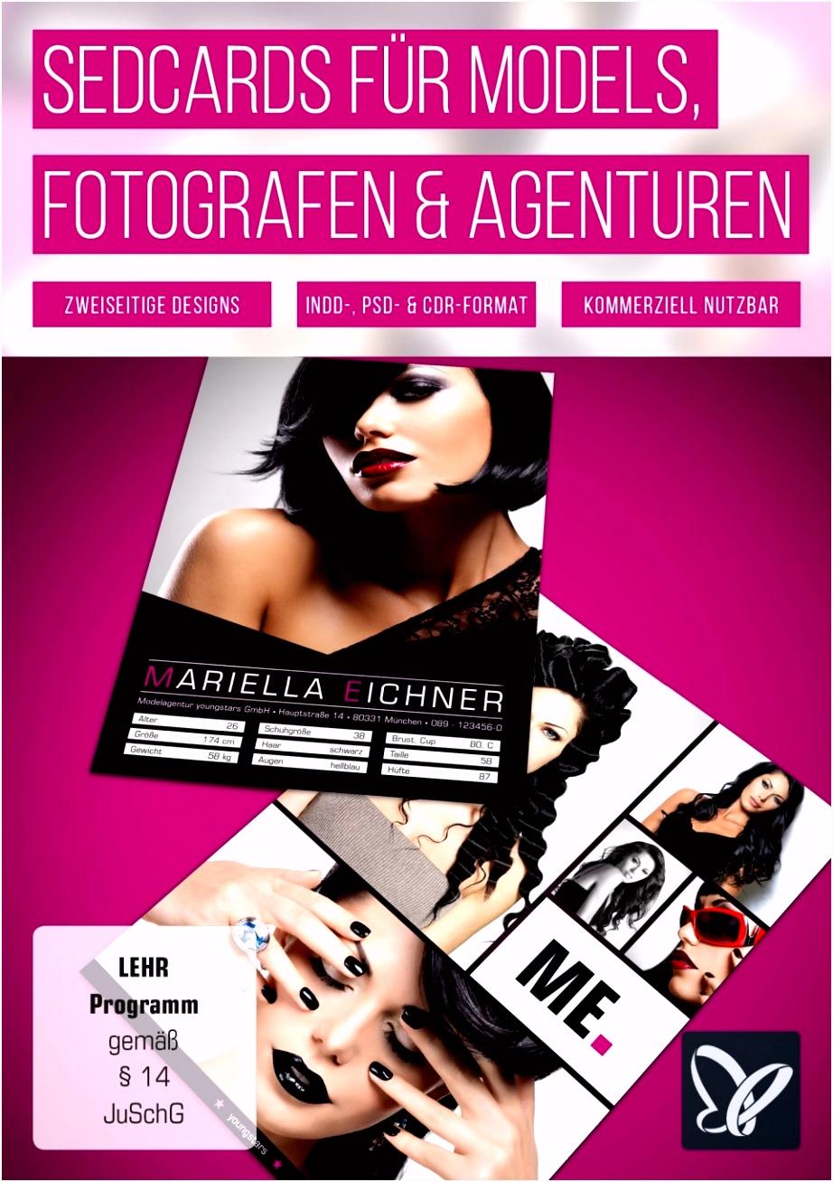 Moderne Sedcards für Models Agenturen & Fotografen