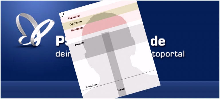 Vorlage für biometrisches Passbild shop für Adobe shop